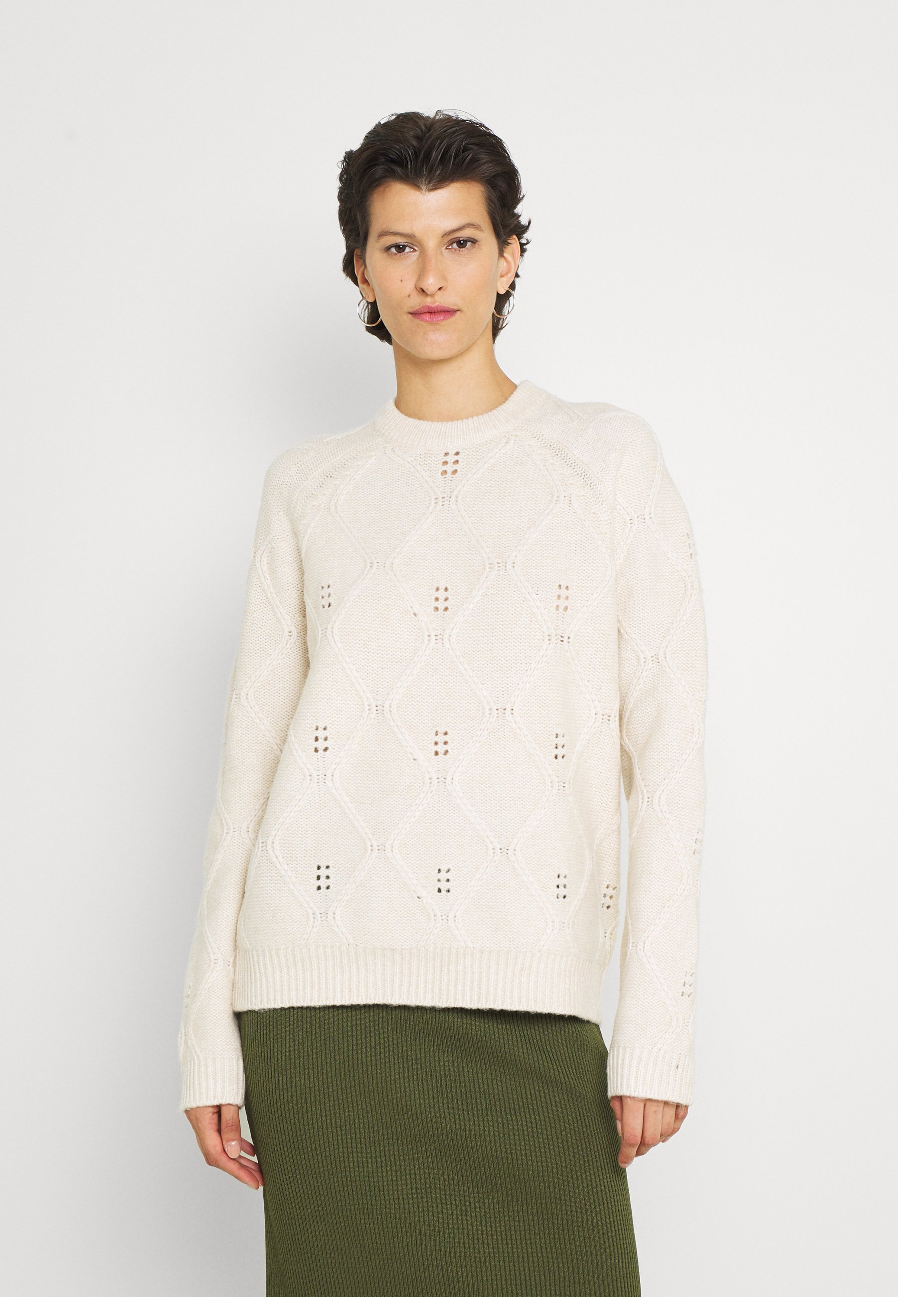 Femme ROSY CABLE PATTERN JUMPER - Pullover