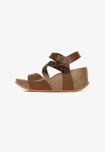 MELILLA - Wedge sandals - camel