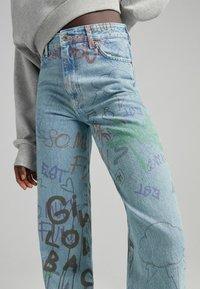 Bershka - Straight leg jeans - blue denim - 3