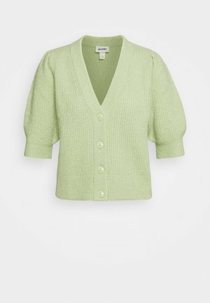 PUFFY CARDIGAN - Chaqueta de punto - green dusty light