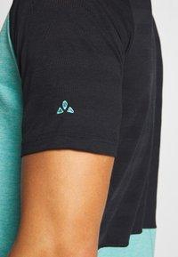 Vaude - TAMARO - T-shirt z nadrukiem - lake - 7