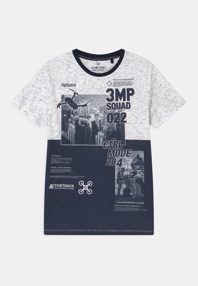 TEEN BOYS  - Print T-shirt - white/black