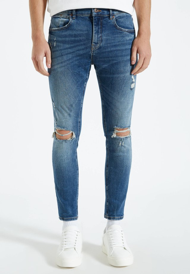 Jeans Skinny Fit - mottled light blue