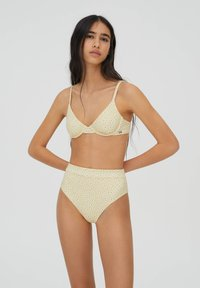 PULL&BEAR - MIT BLUMEN - Bikini bottoms - yellow - 3