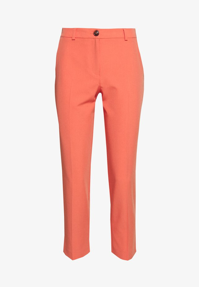 PETITE ELASTIC BACK BUTTONED ANKLE GRAZER TROUSER - Broek - coral