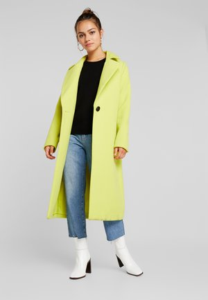 SINGLE BUTTON FRONT COAT - Abrigo - neon lime