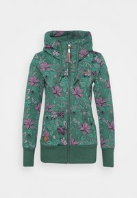 Ragwear - NESKA FLOWERS ZIP - Zip-up hoodie - green - 0