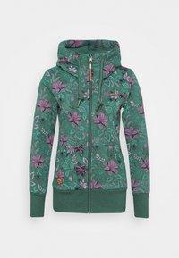NESKA FLOWERS ZIP - Mikina na zip - green