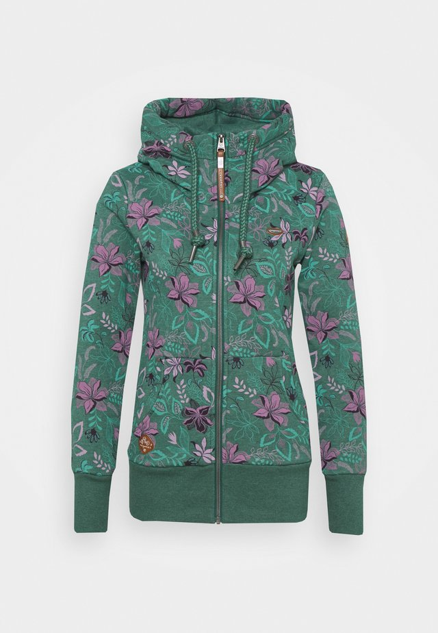 NESKA FLOWERS ZIP - Sweatjacke - green