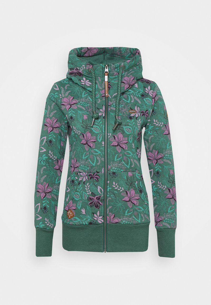 Ragwear - NESKA FLOWERS ZIP - Zip-up hoodie - green