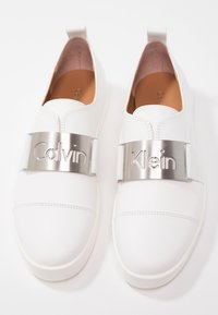 Calvin Klein - ILONA - Slip-ons - platinum white - 7