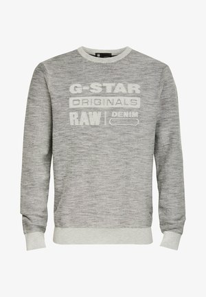 PREMIUM CORE LOGO ROUND LONG SLEEVE - Jumper - cool grey
