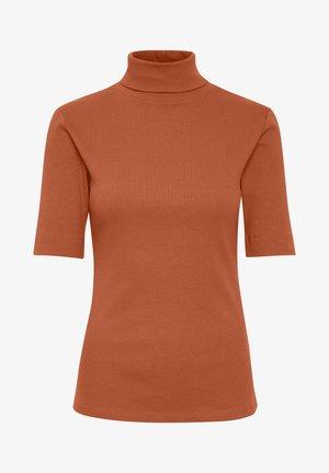 DHZOE ROLLNECK  - T-shirt print - redwood