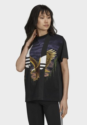 Dry Clean Only xGRAPHIC TEE - Print T-shirt - black