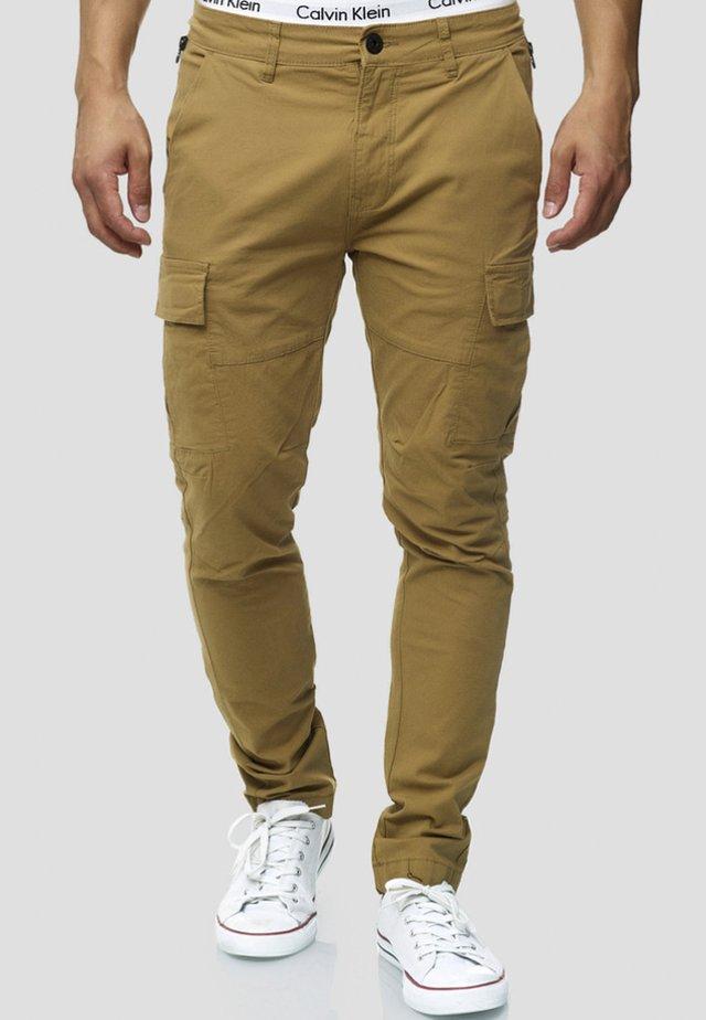 Pantalon cargo - camel