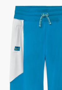 Nike Sportswear - HERITAGE - Tracksuit bottoms - laser blue/white/speed yellow - 3