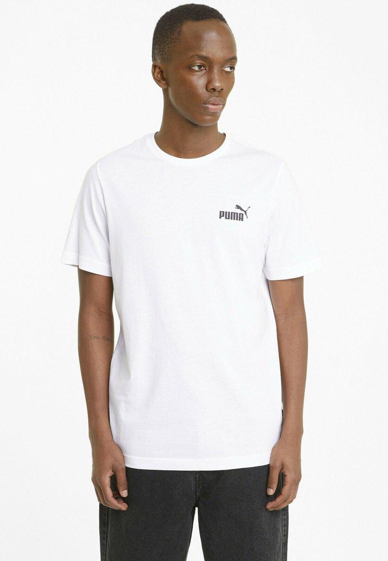Puma - ESS SMALL LOGO TEE - T-shirt basic -  white