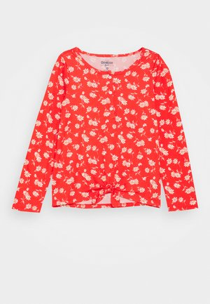 CANADA TIE FRONT - Long sleeved top - multicoloured