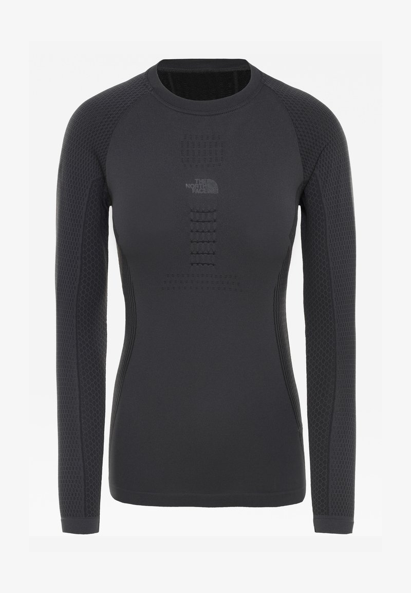 The North Face - W ACTIVE L/S CREW NECK - Long sleeved top - asphalt grey/tnf black