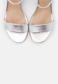 Anna Field - LEATHER SANDALS - Sandály na vysokém podpatku - silver - 5