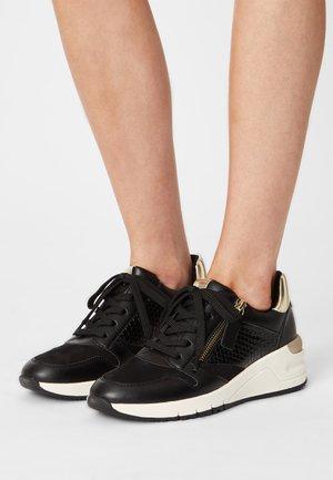 Sneakers laag - black / gold
