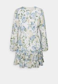 Forever New - MAE LONG SLEEVE RUFFLE MINI DRESS - Robe d'été - provincial blue - 1