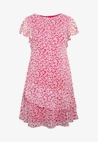 CAP SLEEVE-DAY DRESS - Kjole - berry sorbet/col cream