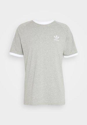STRIPES TEE - T-shirt med print - medium grey heather