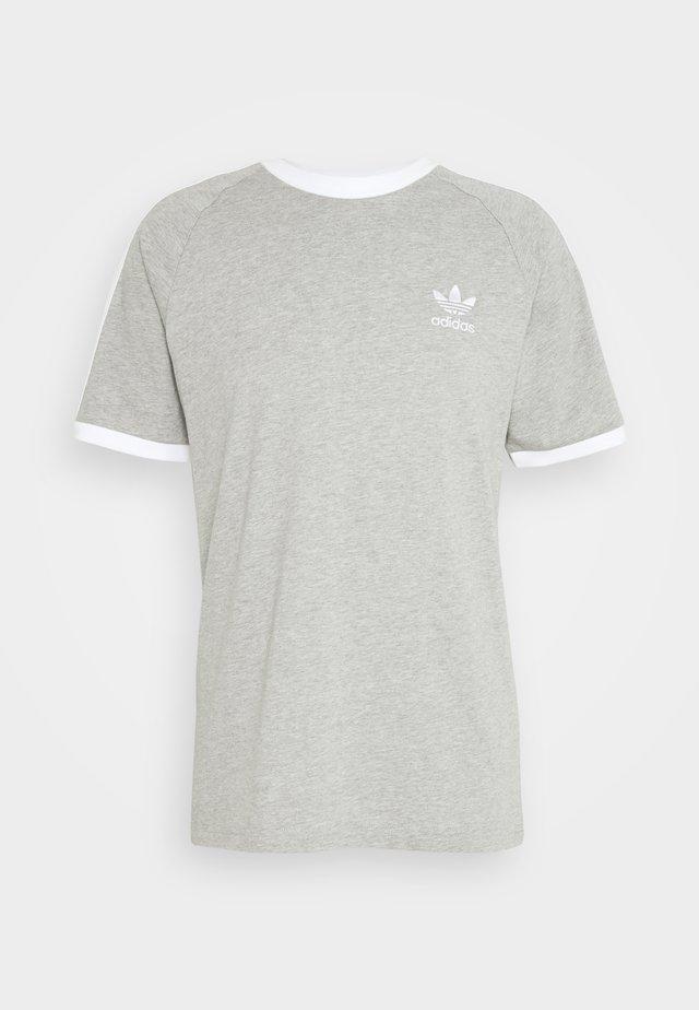 STRIPES TEE - Print T-shirt - medium grey heather