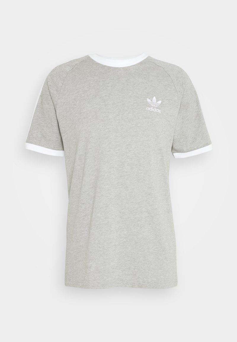 adidas Originals - STRIPES TEE - T-shirt med print - medium grey heather