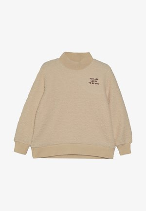 YOU ARE LUCKY  - Sweatshirt - sand/aubergine