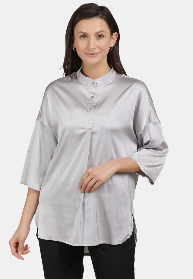 BLUSE - Blouse - silber