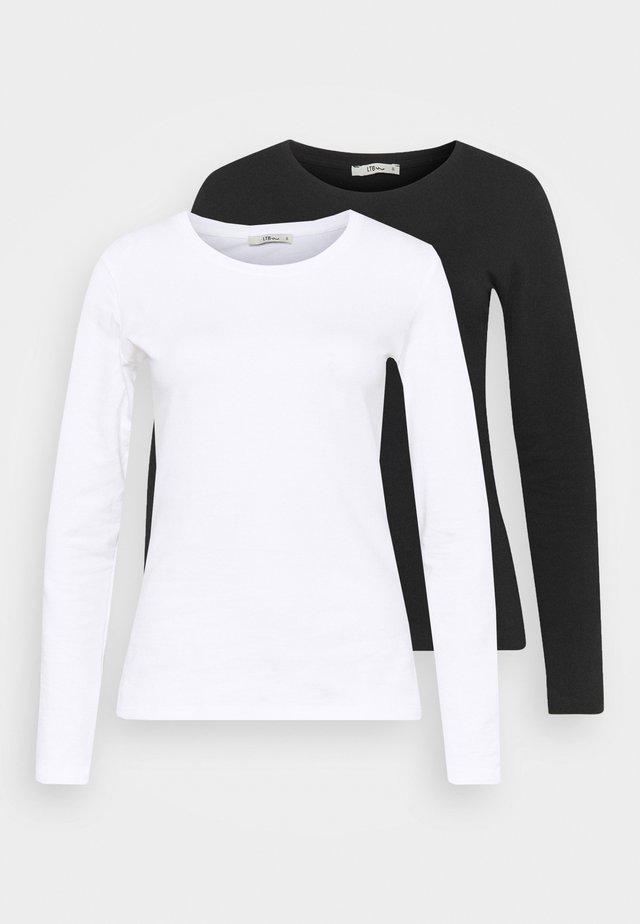 JIRES 2 PACK - Top sdlouhým rukávem - white/black