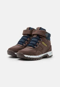 Kappa - LITHIUM UNISEX - Hiking shoes - brown/navy - 1