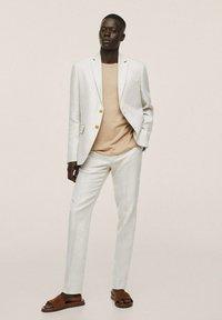 Mango - Oblekové kalhoty - beige - 1