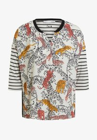 Oui - HALBARM - Blouse - offwhite red - 4