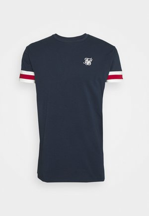 RETRO TOURNAMENT TEE - Basic T-shirt - navy/red/off white