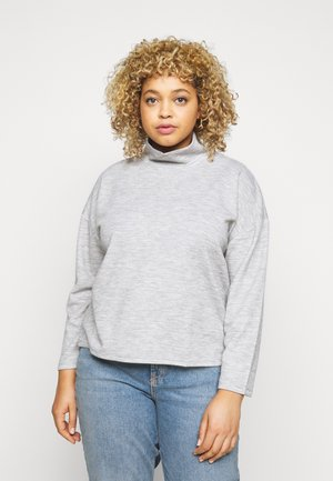 PCRELINO HIGH NECK LOUNGE  - Long sleeved top - light grey melange