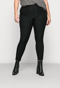 Noisy May Curve - NMSOLINE SOLID PANTS - Kalhoty - black - 0
