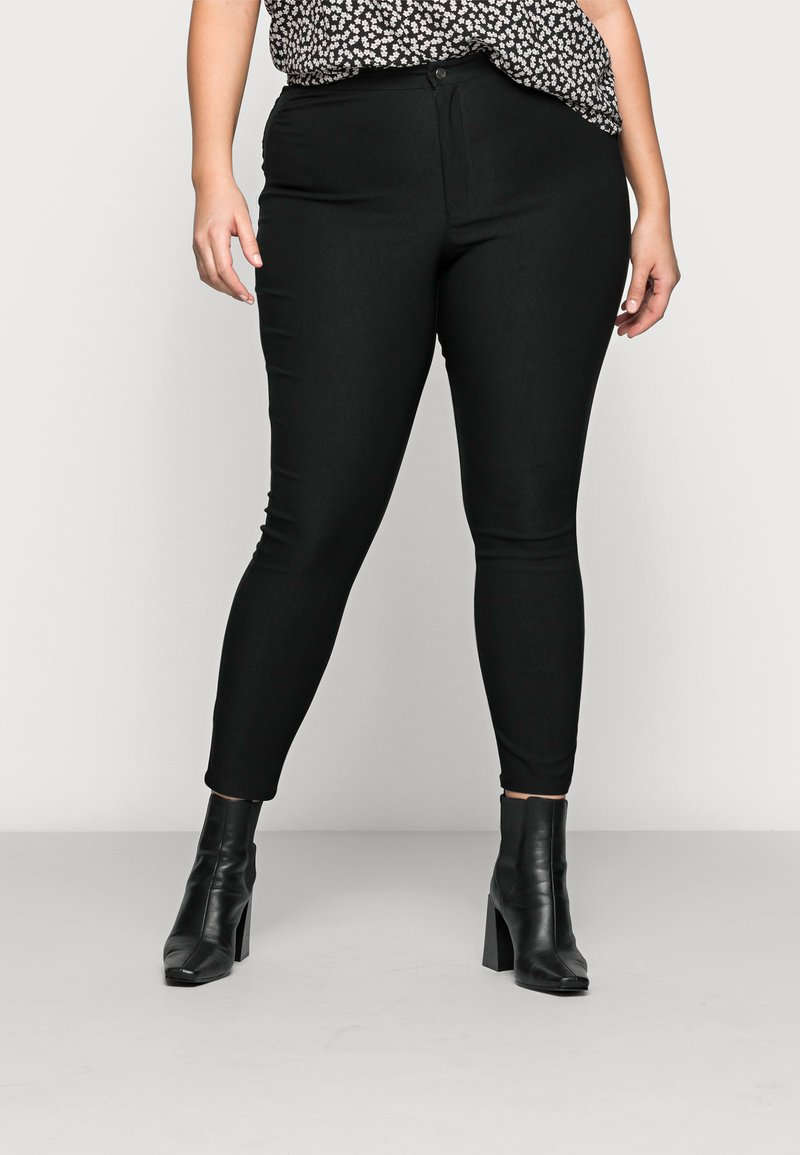 Noisy May Curve - NMSOLINE SOLID PANTS - Kalhoty - black