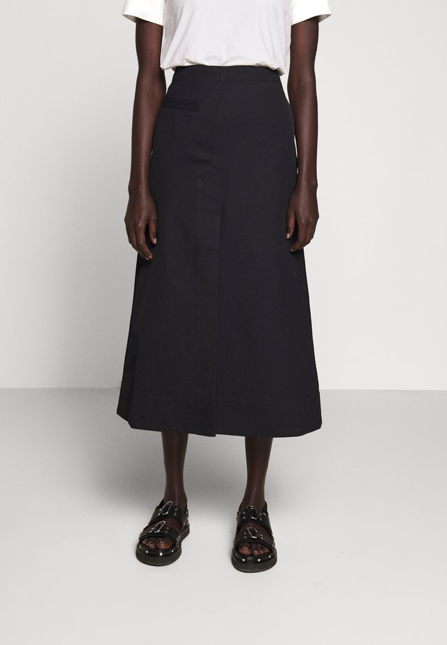SIDE POCKET SKIRT FRONT SLIT - A-line skirt - midnight