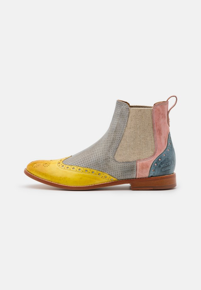 AMELIE - Boots à talons - imola/margarine/oxygen/rose/oro/white/tan/natural