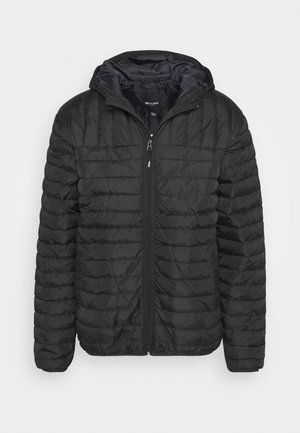 ONSPAUL QUILTED HOOD JACKET - Giacca da mezza stagione - black