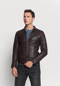 Oakwood - CASEY  - Leather jacket - wine - 0