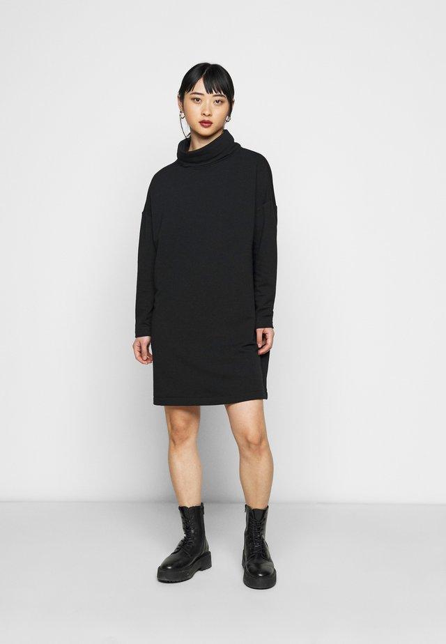 COWL NECK DRESS - Korte jurk - true black