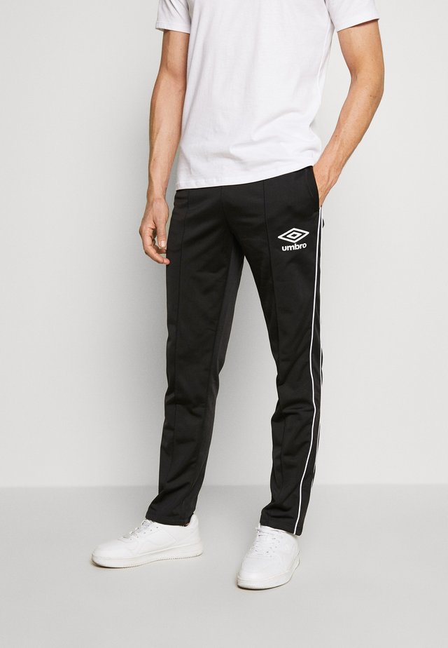 DIAMOND TRACK PANT - Tracksuit bottoms - black/brilliant white