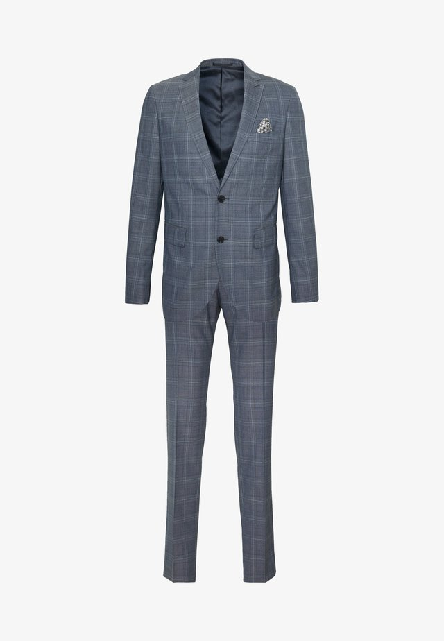 CHECK STRETCH - Suit - dust blue