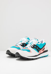 Saucony - AZURA - Baskets basses - white/capri/vizicoral - 2