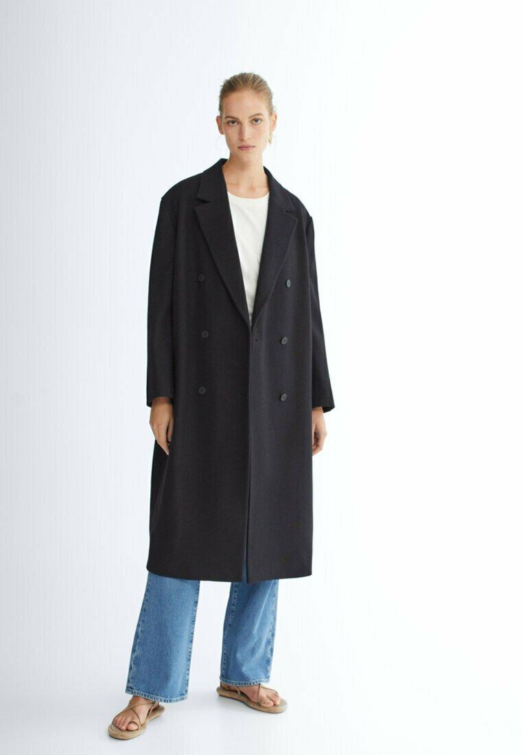 Massimo Dutti - LANGER 06421640 - Classic coat - black