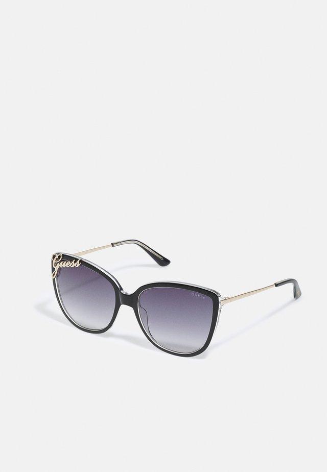 Sonnenbrille - shiny black/smoke